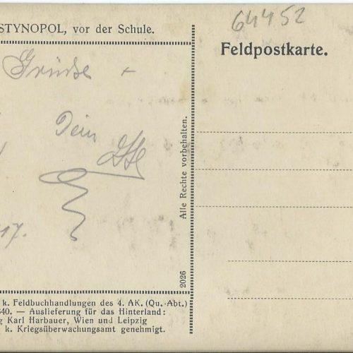 Schule, 1917