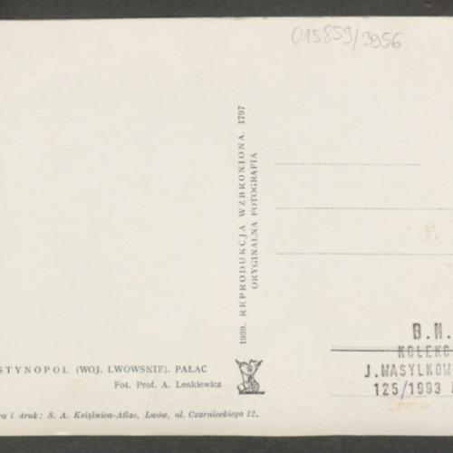 Palac, 1939