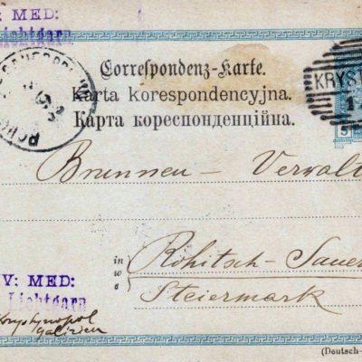 Кристинопіль-Словенія, 1903