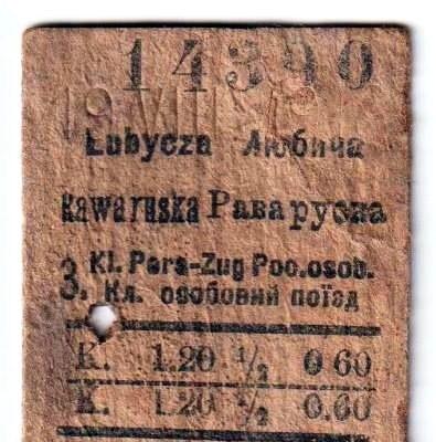 Любича-Королівська - Рава-Руська. 1918