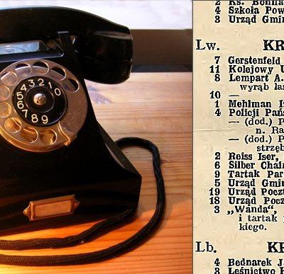 Телефонний довідник 1932-1933, телефон того часу фірми Ericsson.