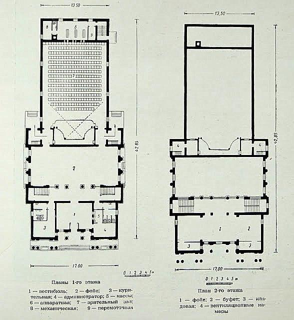 Схема кінотеатру у Жуковському.