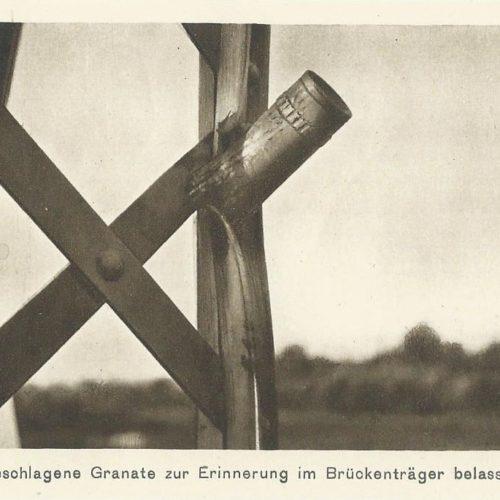 Памятна граната в мостовій балці. Кристинопіль. 1СВ