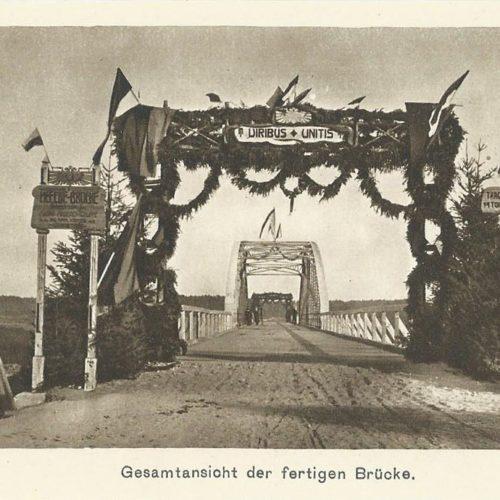 Загальний вигляд завершеного моста. Кристинопіль. 1СВ