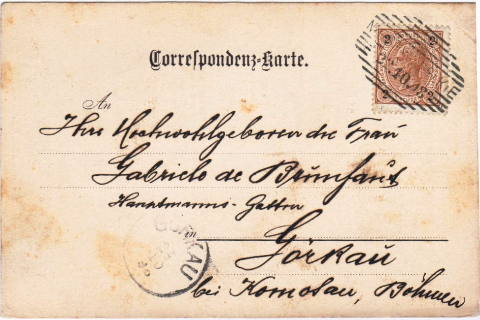 Великі Мости - Гьоркау, Чехія, 1898