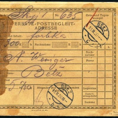 Стрий-Белз. 1920